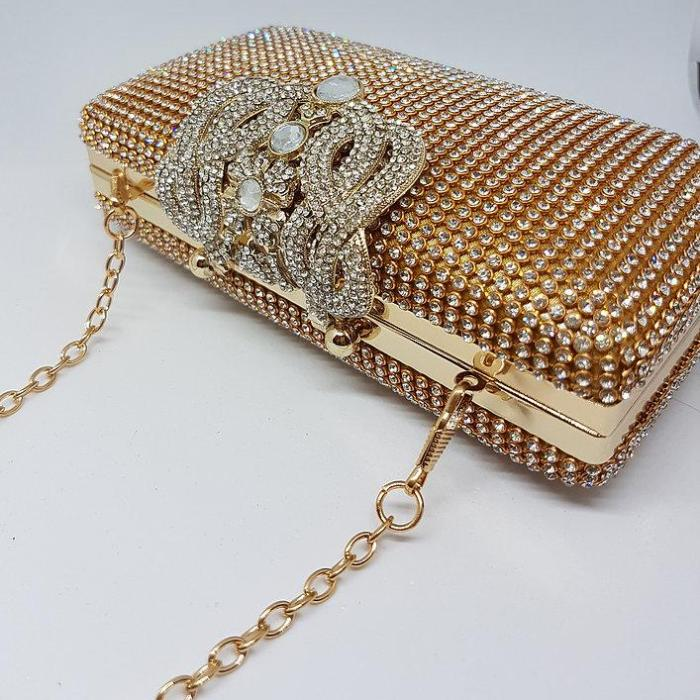 gold fancy jewel bag for her