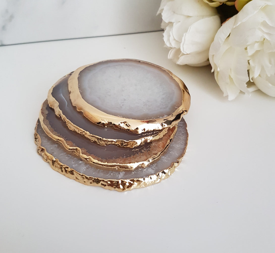 Geode coasters, new home luxury gift