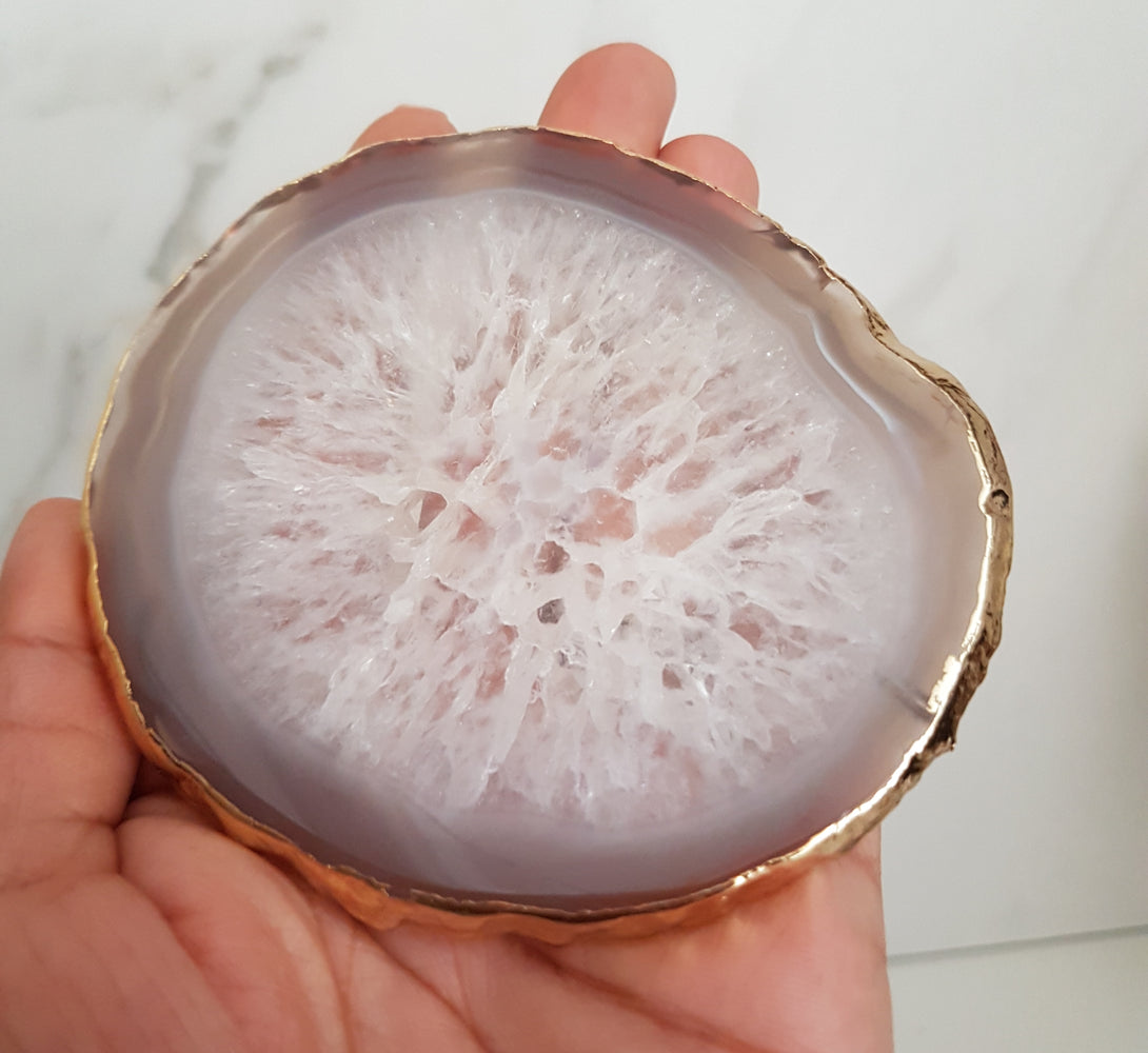 crystal geode home decor accessories inspiration