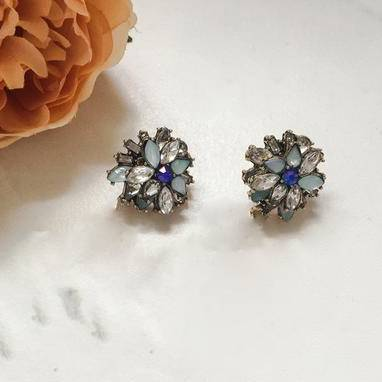 Royal Blue Stud Earrings