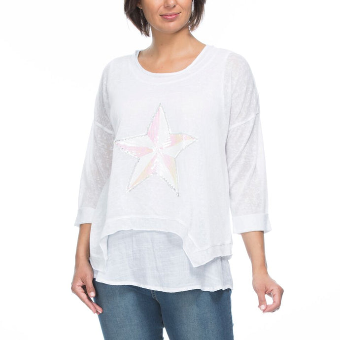 2- in- 1 Star Top/White