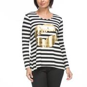 Kiss Long Sleeve Stripe Tee