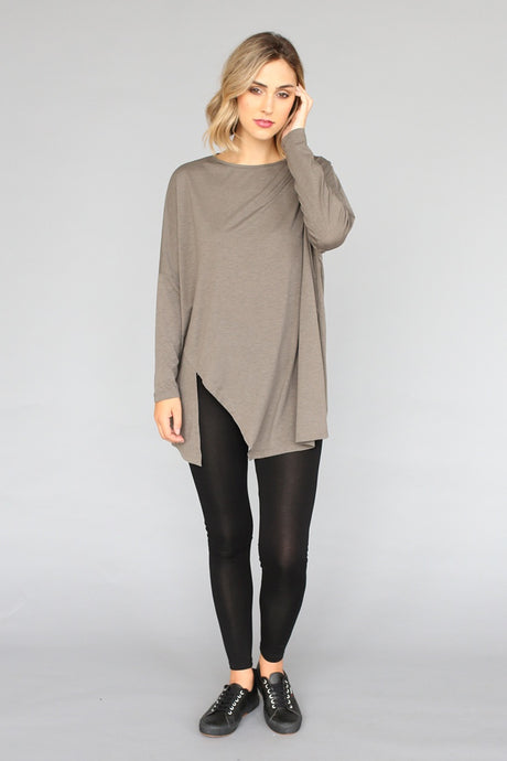 Boxy Top With Side Split