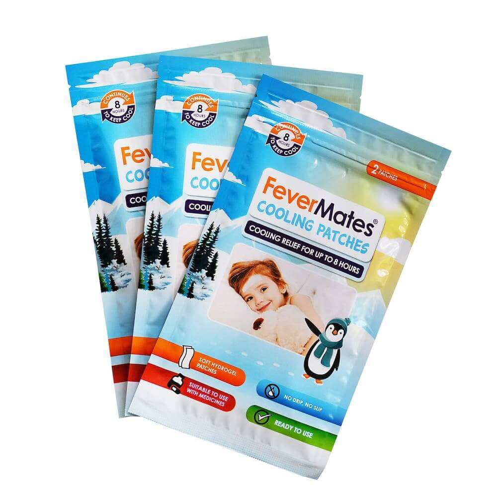 cooling patches, temperature, kids health, sick, cold, flu, thermometer, covid19, fever