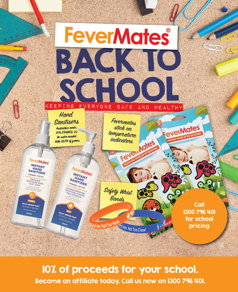 sanitiser, back to school, hand sanitiser, fevermates, fever indicators