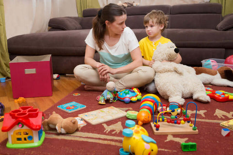 mum busy toddler toys growing up