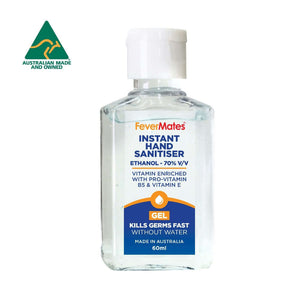 Hand Sanitiser Gel | Laboratory & Dermatologist Tested | Australian Made - Hand sanitiser - FeverMates - 60 ML / 60 ML - 1 Bottle - FeverMates