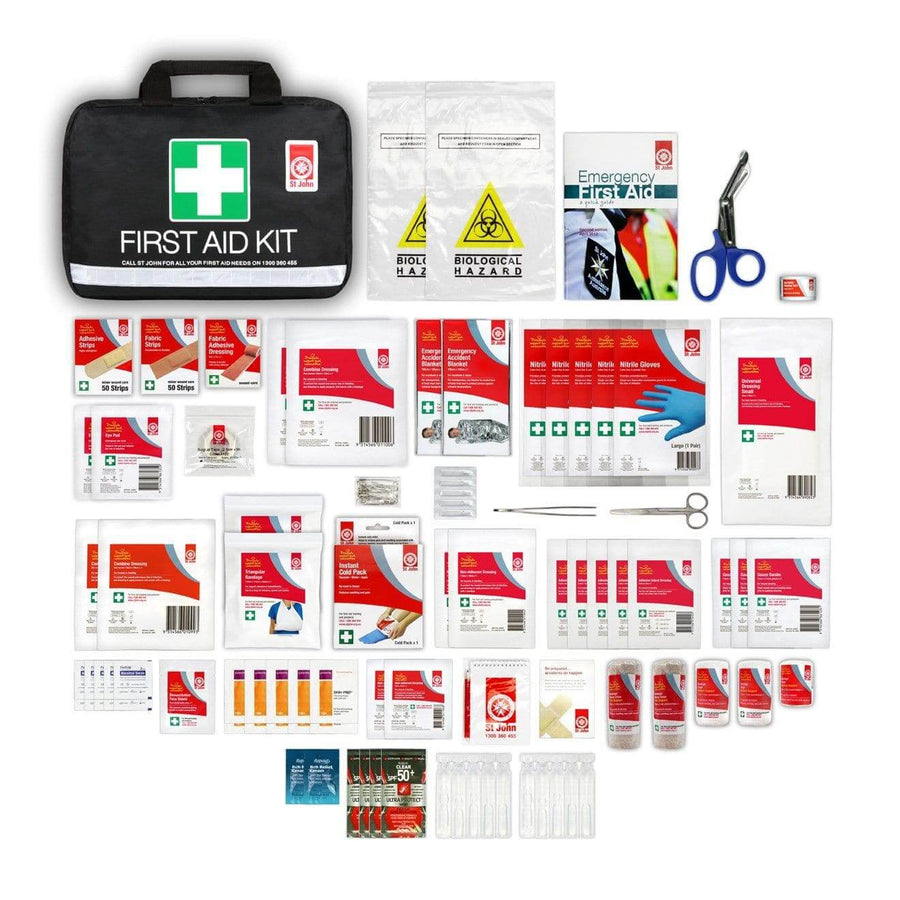 Large Leisure First-Aid Kit - First Aid Kit - St John Ambulance - First Aid Kit, St John Ambulance, first aid kit australia, childrens first aid kit, small first aid kit, hand sanitiser, alcohol wipes,