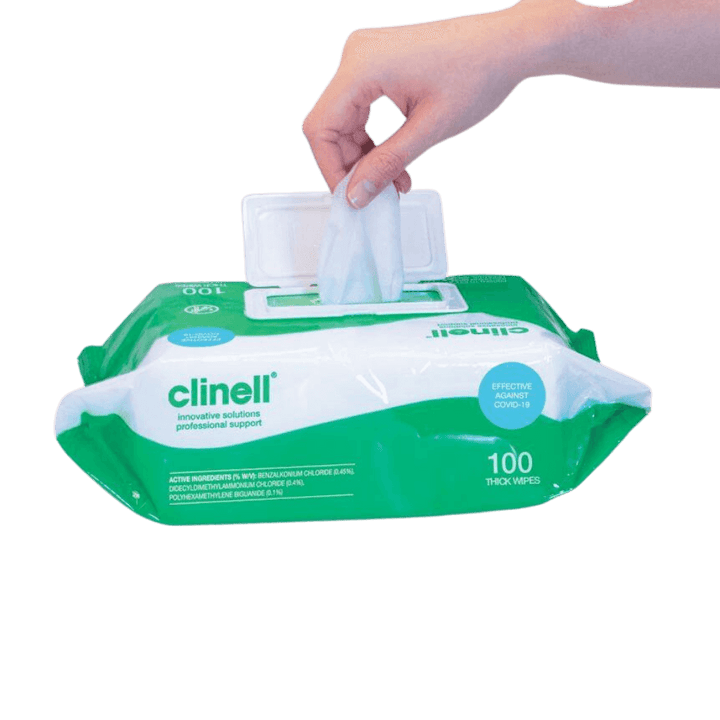 Clinell Universal Wipes - Thick Wipes Packet 100 - Wipes - Clinell - FeverMates