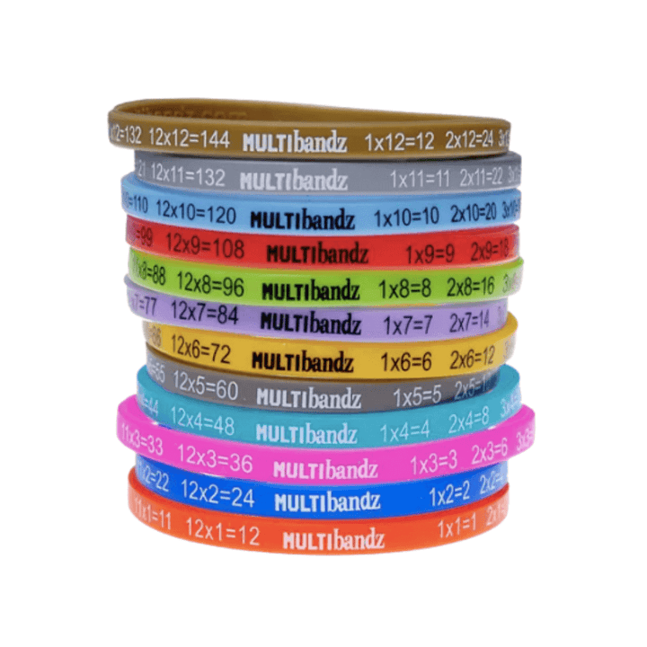 Multibandz Mathematics Times Table Wristbands - Awareness Wristbands - Handband - FeverMates