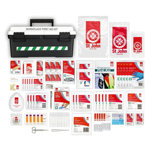 National Medium Workplace First Aid Kit by St John Ambulance (Portable) - First Aid Kit - St John Ambulance - FeverMates