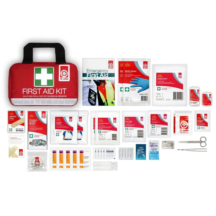 Small Leisure First-Aid Kit - First Aid Kit,  First Aid Kit, St John Ambulance, first aid kit australia, childrens first aid kit, small first aid kit, hand sanitiser, alcohol wipes,