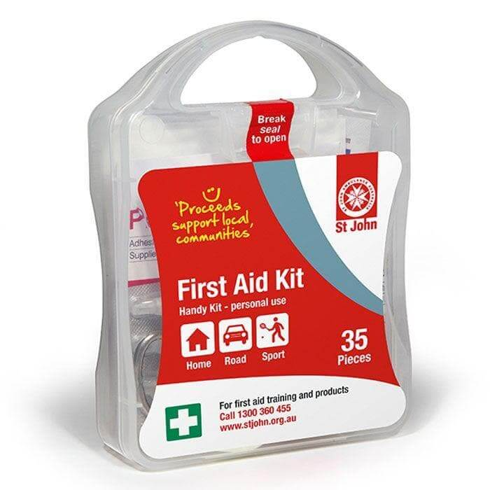 St John Handy First Aid Kit,  First Aid Kit, St John Ambulance, first aid kit australia, childrens first aid kit, small first aid kit, hand sanitiser, alcohol wipes,