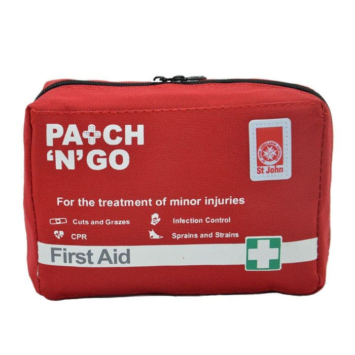 St John Patch n Go First-Aid Kit,  First Aid Kit, St John Ambulance, first aid kit australia, childrens first aid kit, small first aid kit, hand sanitiser, alcohol wipes,