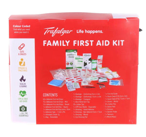 Trafalgar Family First Aid Kit (126 Pieces) - Trafalga, First Aid Kit, family first aid kit, first aid kit australia, childrens first aid kit, small first aid kit, hand sanitiser, alcohol wipes,