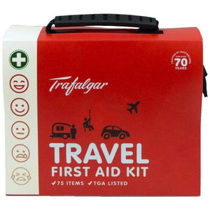Trafalgar Travel First Aid Kit (75 Pieces) - Trafalga, First Aid Kit, family first aid kit, first aid kit australia, childrens first aid kit, small first aid kit, hand sanitiser, alcohol wipes,
