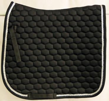 Victory Dressage Cloth - Black with silver piping
