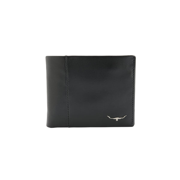 RMW Leather Wallet with Coin Pocket Black