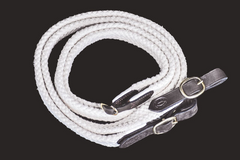 Drovers Saddlery Made Cotton Reins Joined