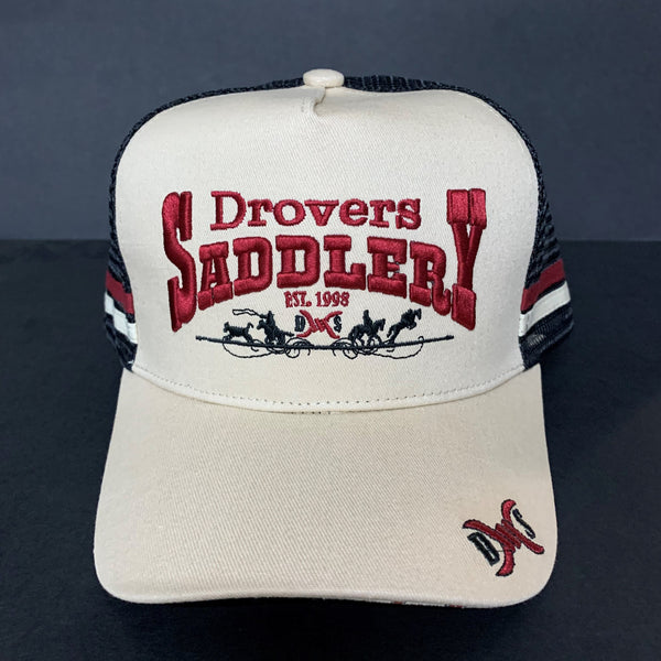 Drovers Saddlery Cap - Cream