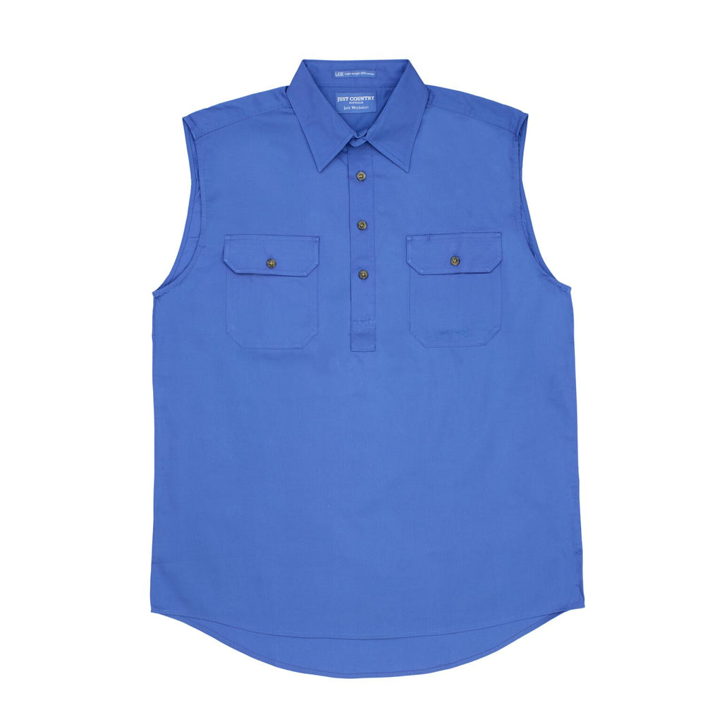 aa37371df60cb3 Just Country Mens Sleeveless Half Button Workshirts. SKU  10103. Previous
