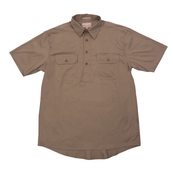 Just Country Mens Short Sleeved Half Button Workshirt