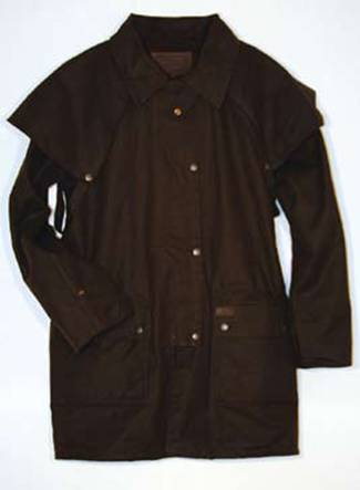 Knee Length Oilskin Jacket