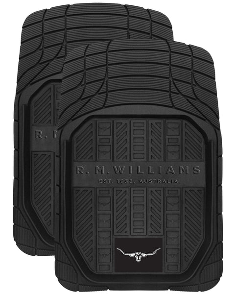 R.M.Williams Rubber Car Mats Black