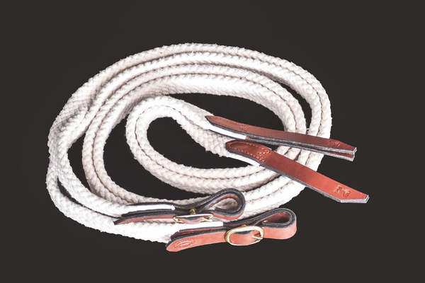 Drovers Saddlery Made Cotton Reins Split