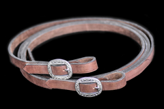 Drovers Saddlery Made Split Leather Reins
