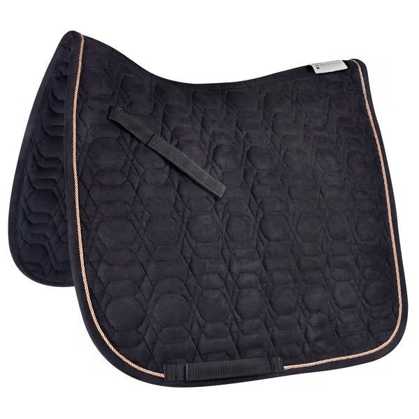 Rose Gold/Black Dressage Saddle Pad