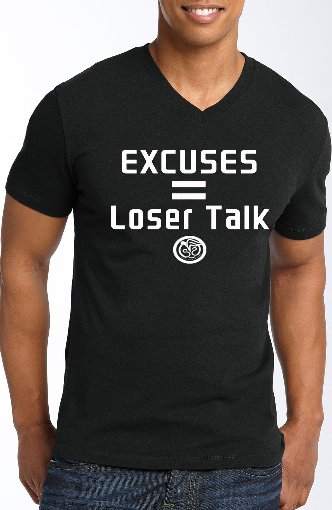 Excuses - Black w/White Print