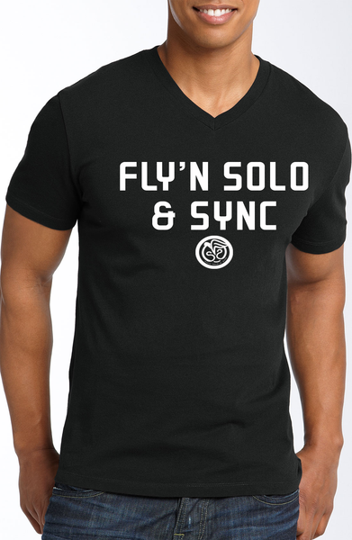 Fly'n Solo & Sync - Black w/White Print