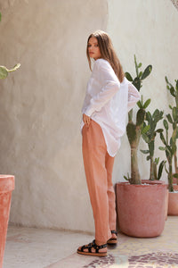 La Confection - Iva - Pant in Coppertant Linen