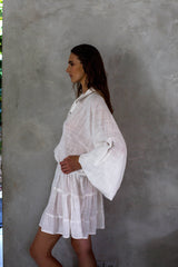 La Confection - Inka - Dress in White Linen