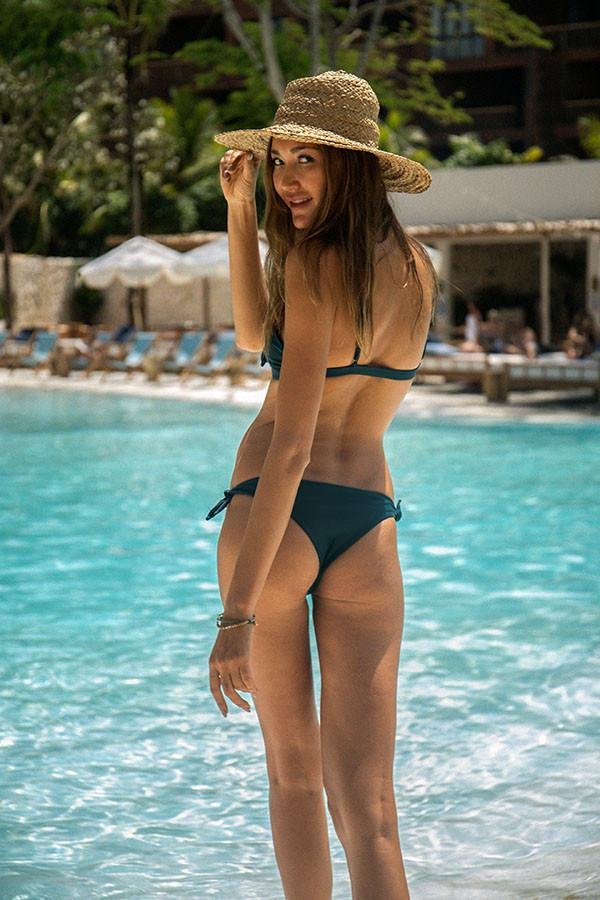 Storm Swimwear - Barbados - Tie knot Side Bikini Bottoms in Jungle Green