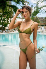Storm Swimwear - Bondi - Triangle Bikini Top In Champagne