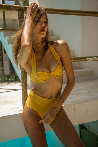Storm Swimwear - Cannes - Bikini Top In Mustard