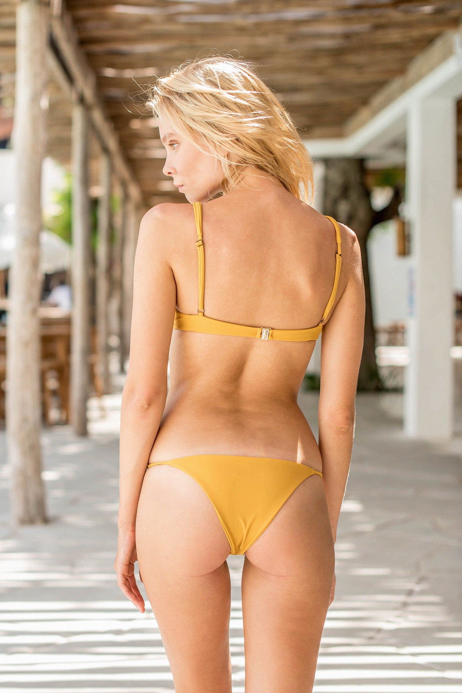 Storm Swimwear - Cape Town - Padded Bikini Top in Mustard