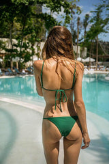 Storm Swimwear - Capri - Scoop neck bikini top in Palm Green