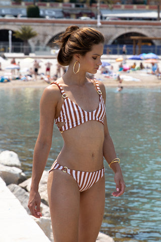 7b32ac9b5619d Storm Swimwear - Sicily - Bikini Top in Sunburnt Stripe