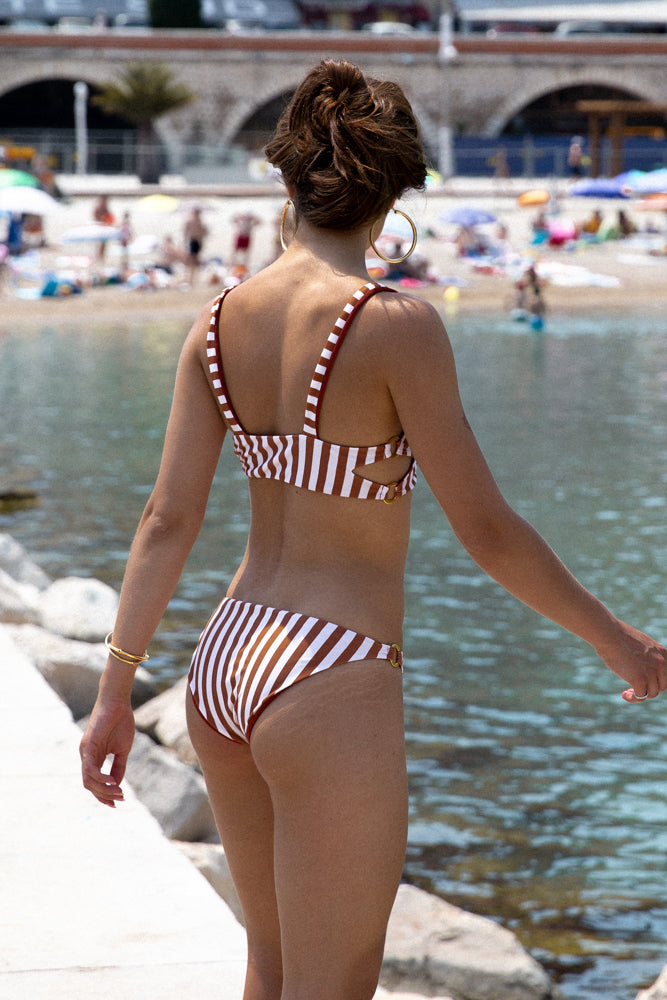 Storm Swimwear - Lanzarote - bikini Bottom in Sunburnt Stripe