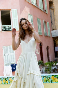 La Confection - Valere - Maxi Dress in Plain Bircher