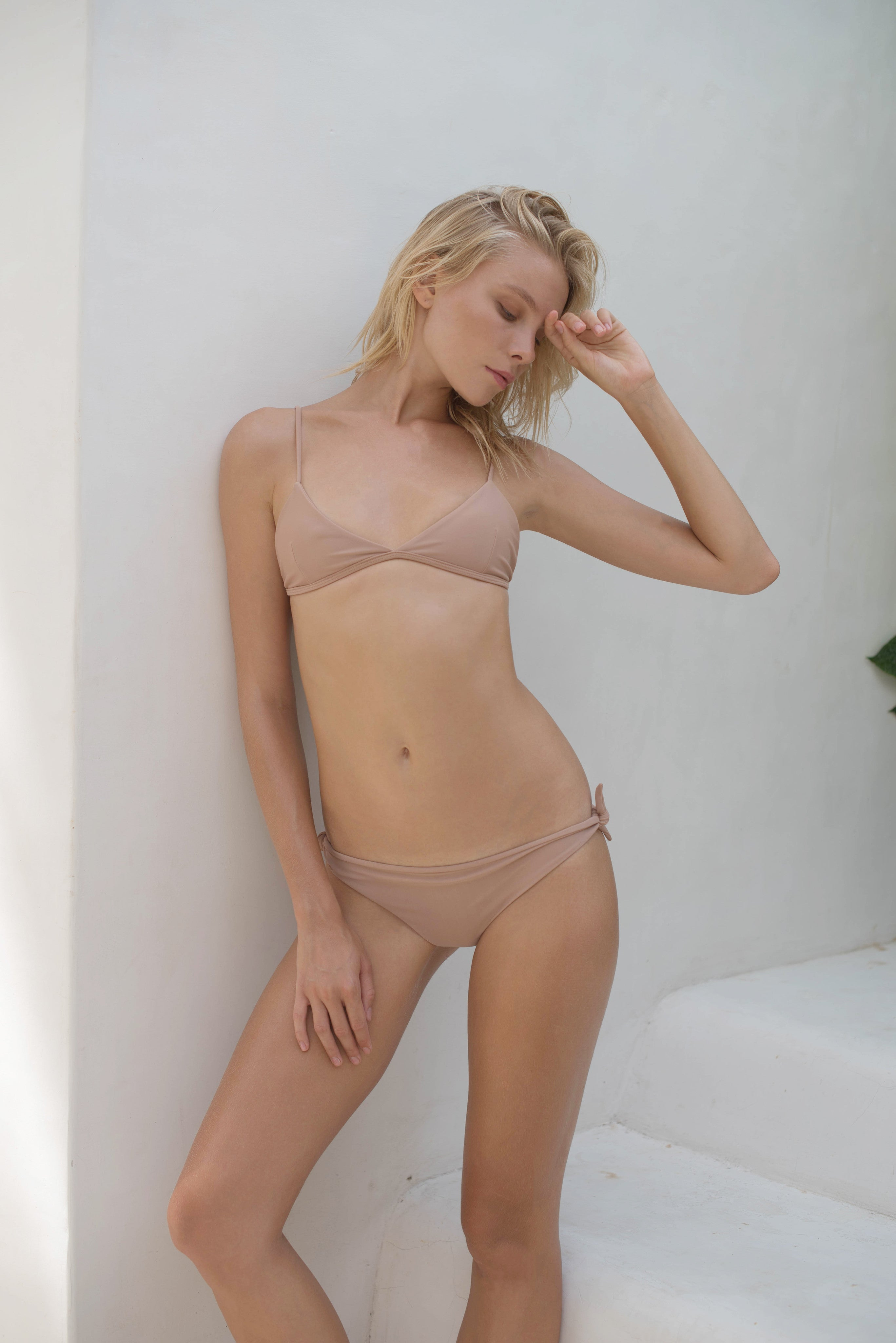 Storm Swimwear - Bondi - Triangle Bikini Top In Nude