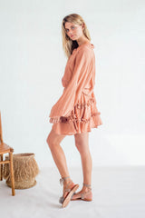 La Confection - Willow - Long Sleeve in Foam Coppertan