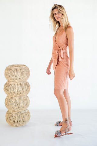 La Confection - Aspen - Midi Dress in Linen Coppertan