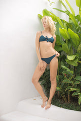 Storm Swimwear - Barbados - Bow tie front bikini top in Jungle Green