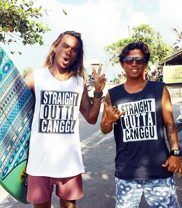 Dallas - Straight Outta Canggu - Mens Muscle Singlet Top