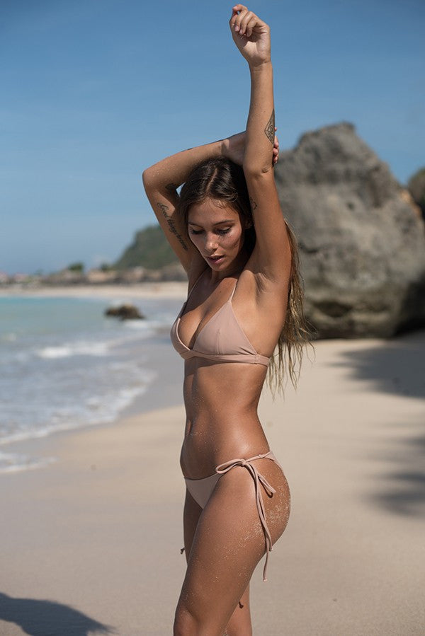Storm Swimwear - Dangerous - Triangle Bikini Top in Nude