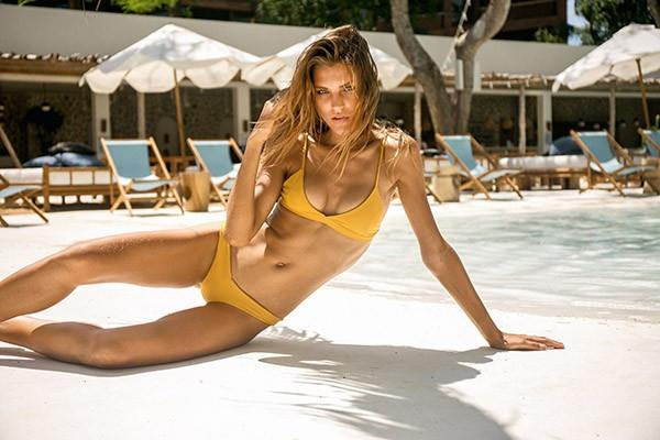 Storm Swimwear - Dangerous - Triangle Bikini Top In Mustard